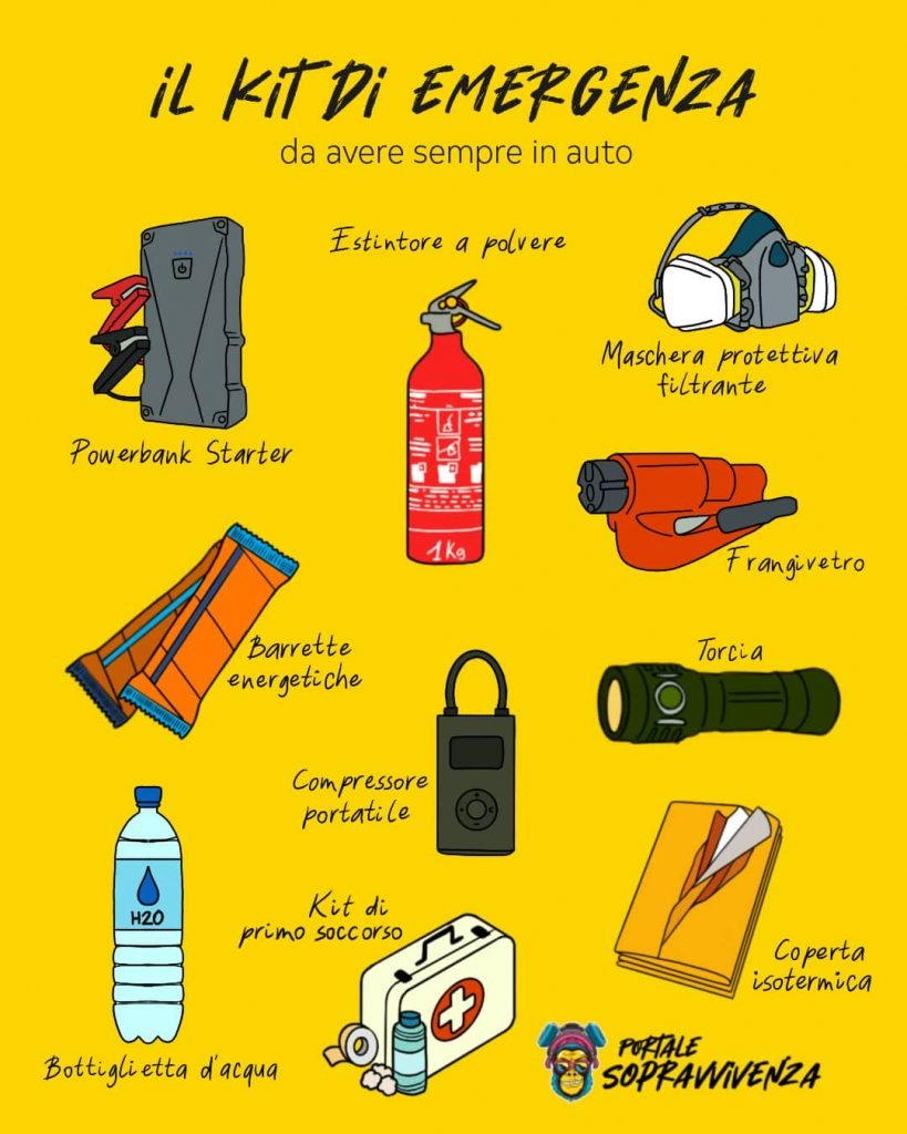 Kit emergenza per auto - Kit sopravvivenza automobile