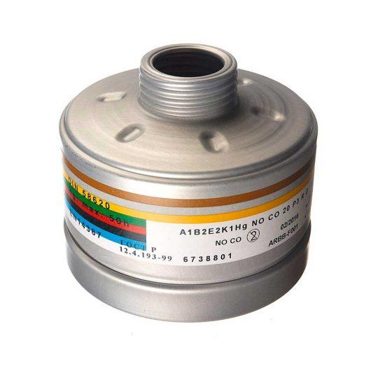 Filtro Dräger A1B2E2K1 Hg NO P3 RD
